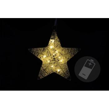 Vánoční dekorace - vánoční hvězda - 25 cm, 10 LED diod