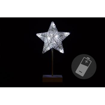 Vánoční dekorace - hvězda - 40 cm 10 LED