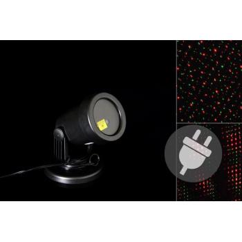 Venkovní LED projektor - červená a zelená - dosah 15 - 20 m