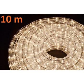 Světelný kabel 10 m - teple bílý, 360 žárovek