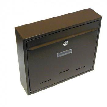 Schránka poštovní G21 RADIM velká 310x360x90mm hnědá