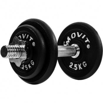 Jednoruční litinová činka MOVIT 10 kg