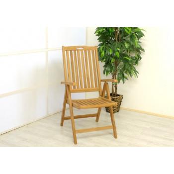 Masivní zahradní židle se skládacím rámem, tvrdé týkové dřevo