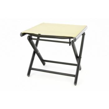 Menší skládací stolička / židlička, textilní potah- umělá textilie, krémová