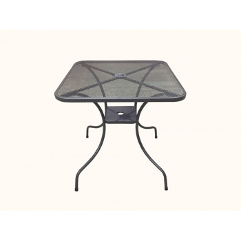 Zahradní kovový stůl ZWMT-80 - čtverec 80 x 80 cm