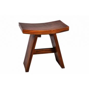 Prohnutá designová dřevěná stolička do interiéru, asijský dub, tmavě hnědá