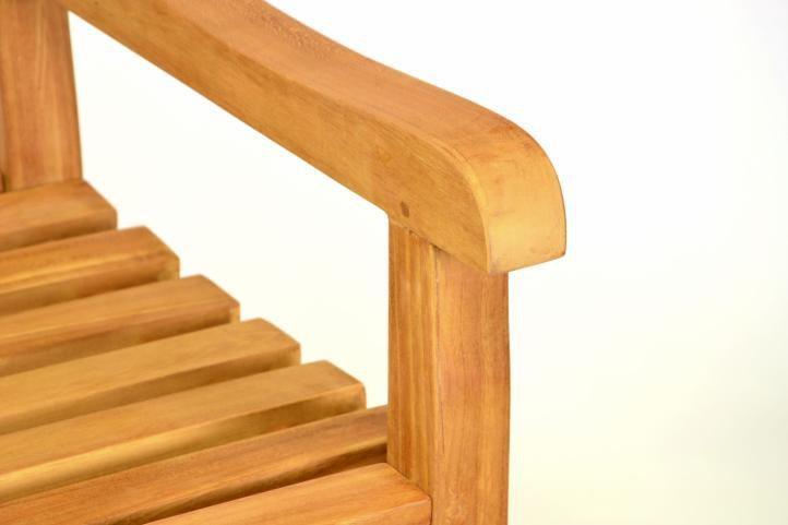 Mení relaxační dřevěná lavička do interiéru / exteriéru, 2 místná, 120 cm